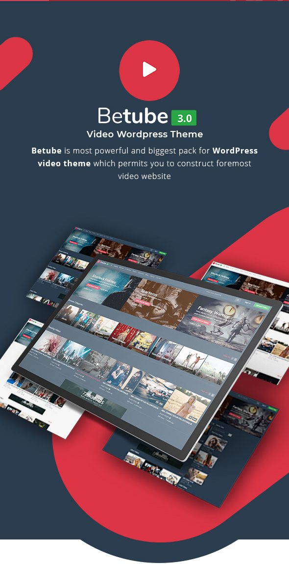 betube video WordPress theme intro